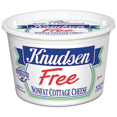 Knudsen Free Nonfat Cottage Cheese 16 oz Tub