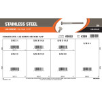 "Stainless Steel Lag Screws Assortment (5/16"" Hex Head)"