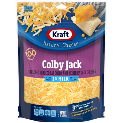 Kraft 2% Milk Colby Jack Shredded Natural Cheese 7 oz Pouch