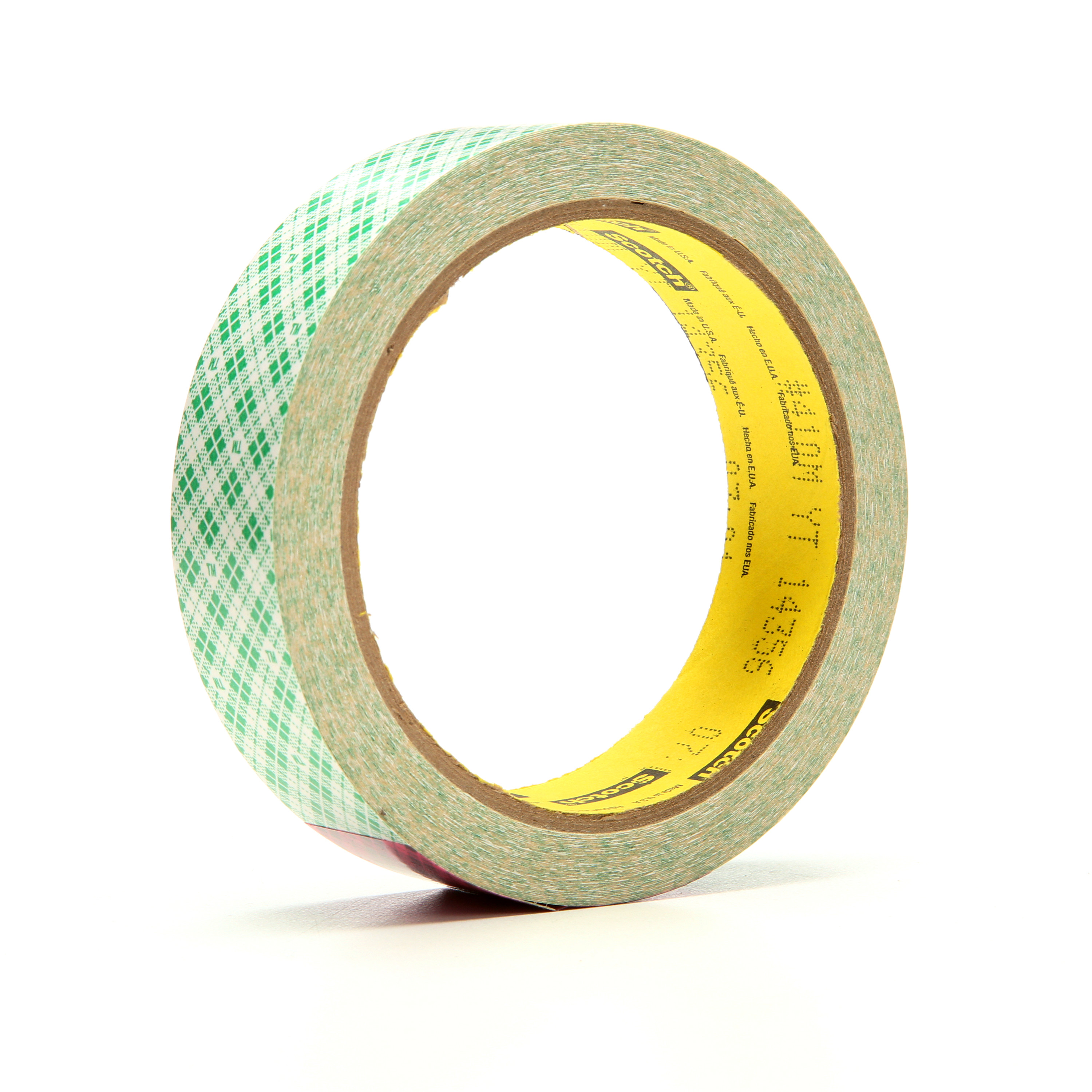 3M™ Double Coated Paper Tape 410M, Natural, 1 in x 10 yd, 5 mil, 36 rolls per case