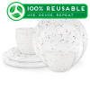 Confetti Dinnerware Set, White, 12-piece set slideshow image 1