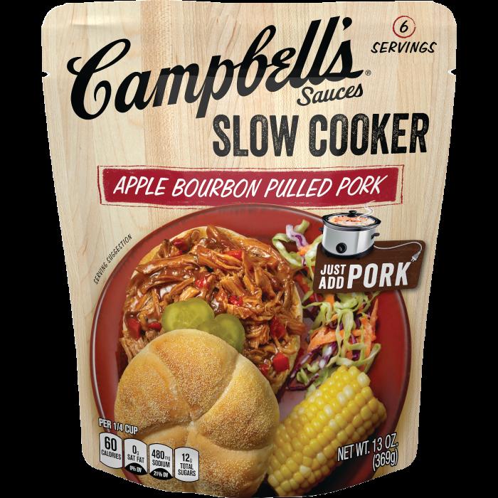 Apple Bourbon Pulled Pork Slow Cooker Sauce