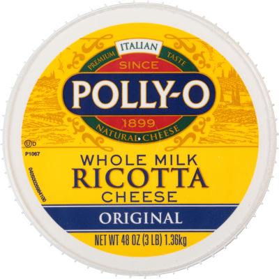 Polly-O Original Whole Milk Ricotta Cheese 48 oz Tub