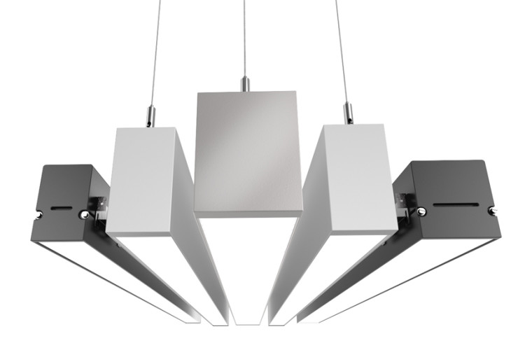 Lumination LALS Suspended fixtures front view