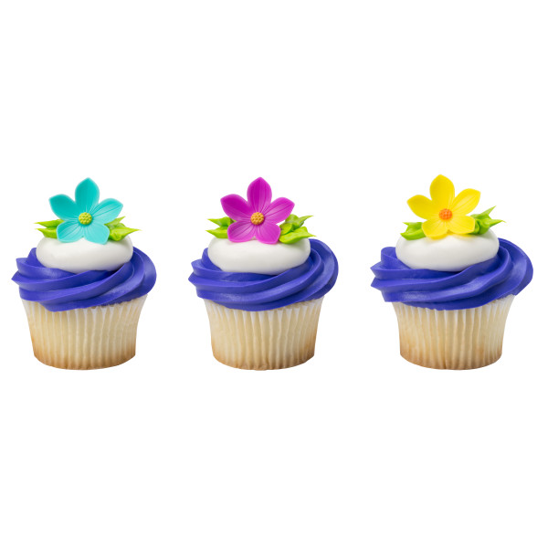 Spring Flowers Cupcake Rings