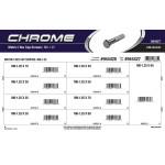 Chrome Metric Hex Cap Screws Assortment (M8-1.25 Thread)