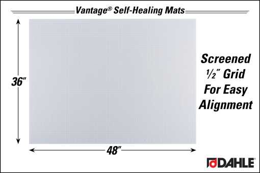 """Dahle Vantage® 36"""" x 48"""" Self-Healing Cutting Mat, Clear - InfoGraphic"""