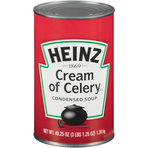 HEINZ Cream of Celery Soup, 49.25 oz. Can, (Pack of 12)