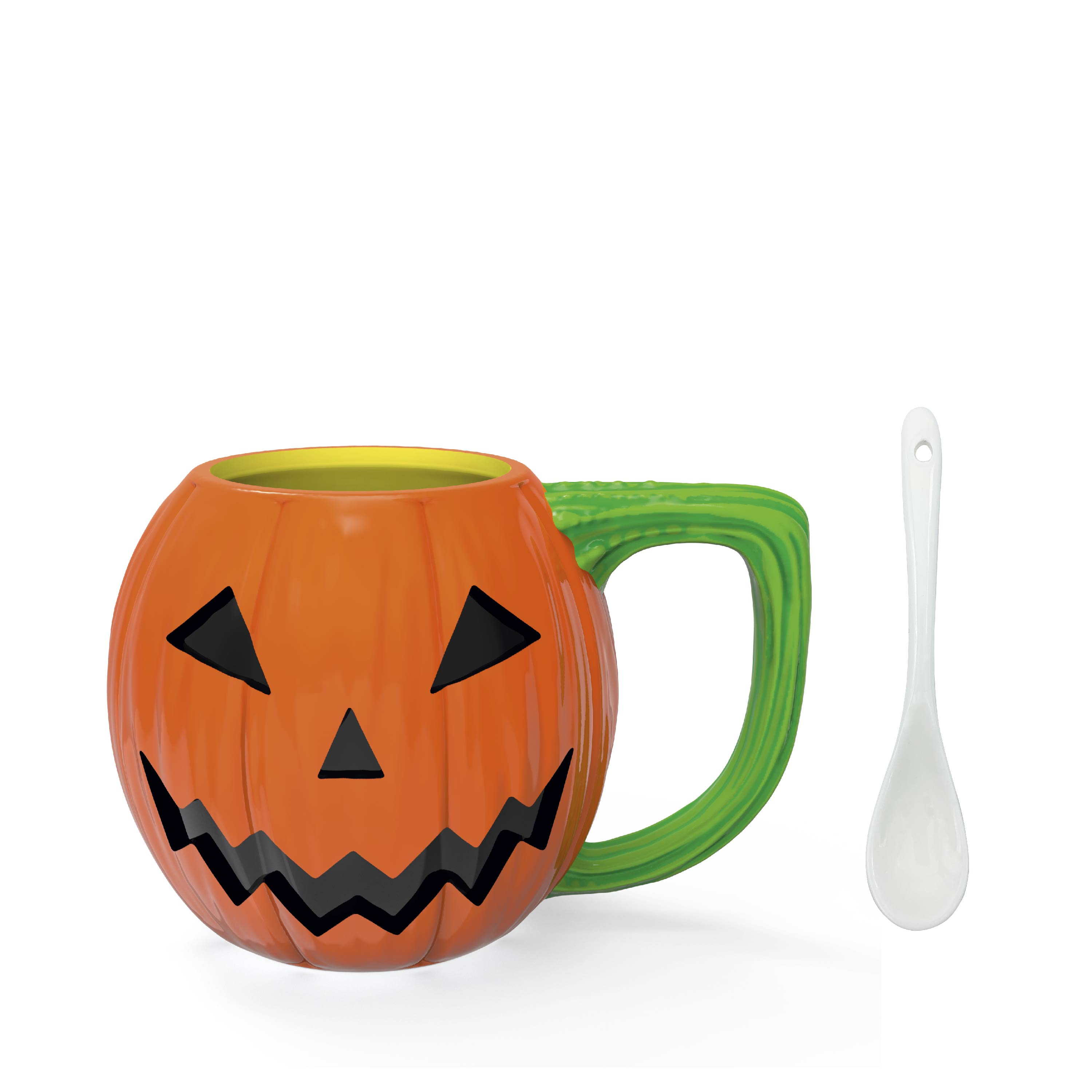 Halloween 15 ounce Coffee Mug and Spoon, Jack O' Lantern slideshow image 2