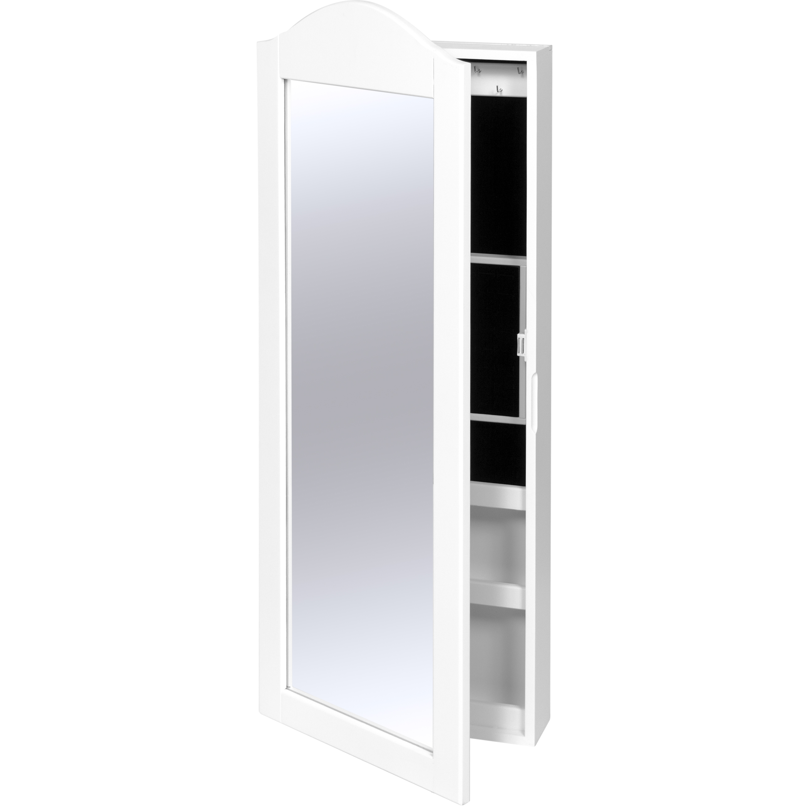 Best Choice Products Wall Mounted Mirror Jewelry Cabinet