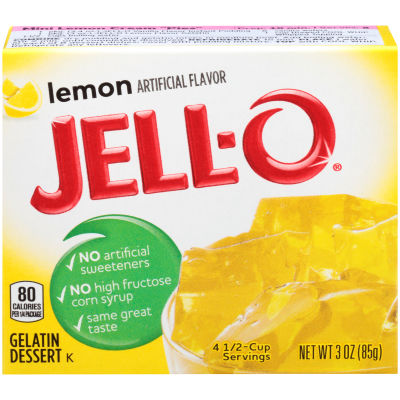 Jell-O Lemon Gelatin Mix 3 oz Box