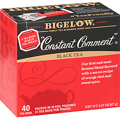 """Constant Comment"" Tea 40 Count - Case of 6 boxes- total of 240 teabags"