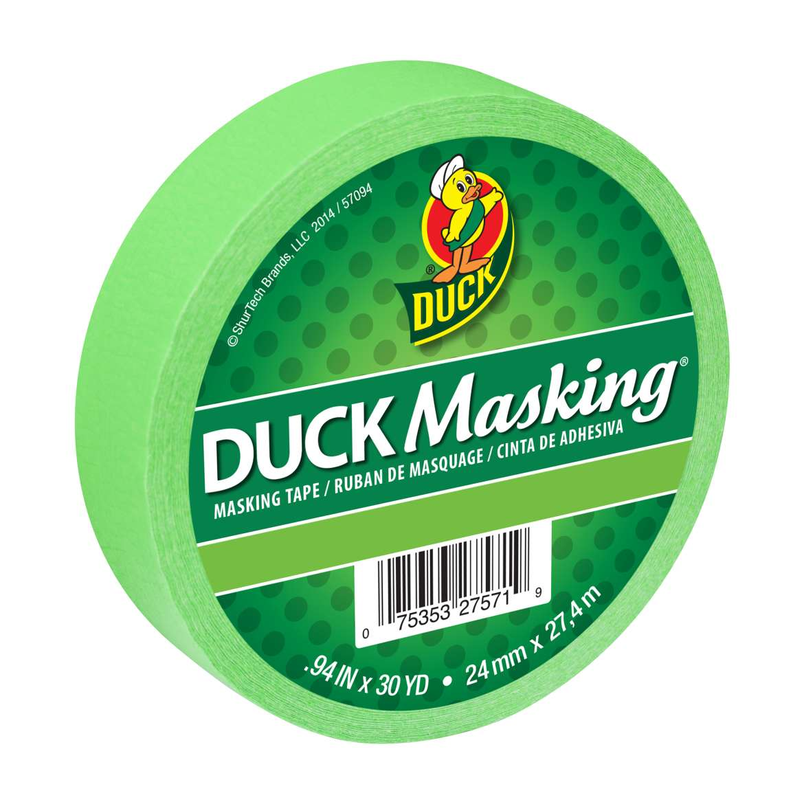 Duck Masking® Color Masking Tape - Light Green, .94 in. x 30 yd. Image