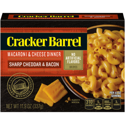 Cracker Barrel Sharp Cheddar & Bacon Macaroni & Cheese 11.9 oz Box