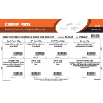 Cabinet Parts Assortment (Panel Clips, Corner Clip, Straight Clip & Mirror Clips)