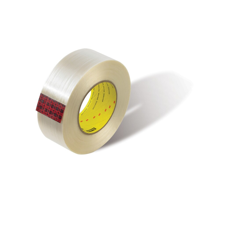 Scotch® Filament Tape 898MSR, Clear, 18 mm x 55 m, 6 mil, 48 rolls per case