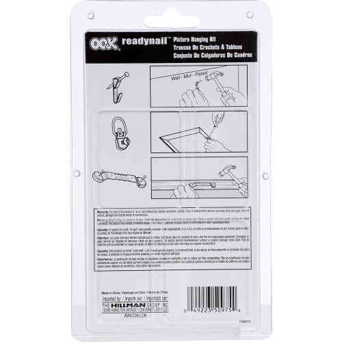 OOK ReadyNail Picture Hanging Kit 10lb-30lbs