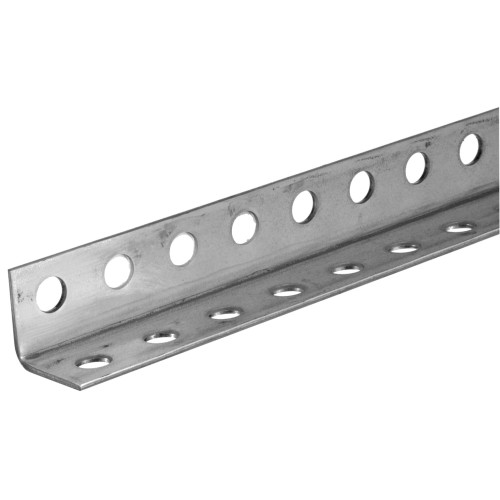 SteelWorks Zinc-Plated Perforated Angle (7/64