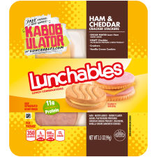 Lunchables Ham & Cheddar with Vanilla Crème Cookie 3.5oz Tray