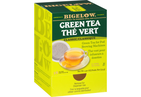 Green Tea Pods - Case of 6 boxes- total of 108 teabags