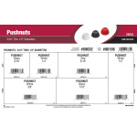 "Push Nuts Assortment (3/16"" thru 1/2"" Diameters)"