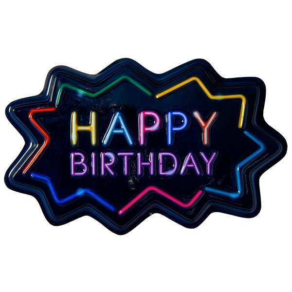 Neon Happy Birthday Pop Tops 174 Decopac