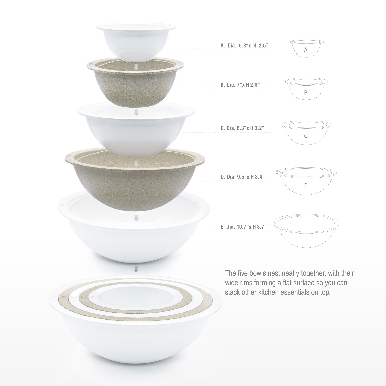 Tilt Mixing Bowl Set, White, 5-piece set slideshow image 7