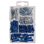 Metal Screws and Anchors Kit