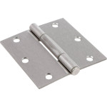 Hardware Essentials Squeak-Proof Square Corner Satin Nickel Door Hinges