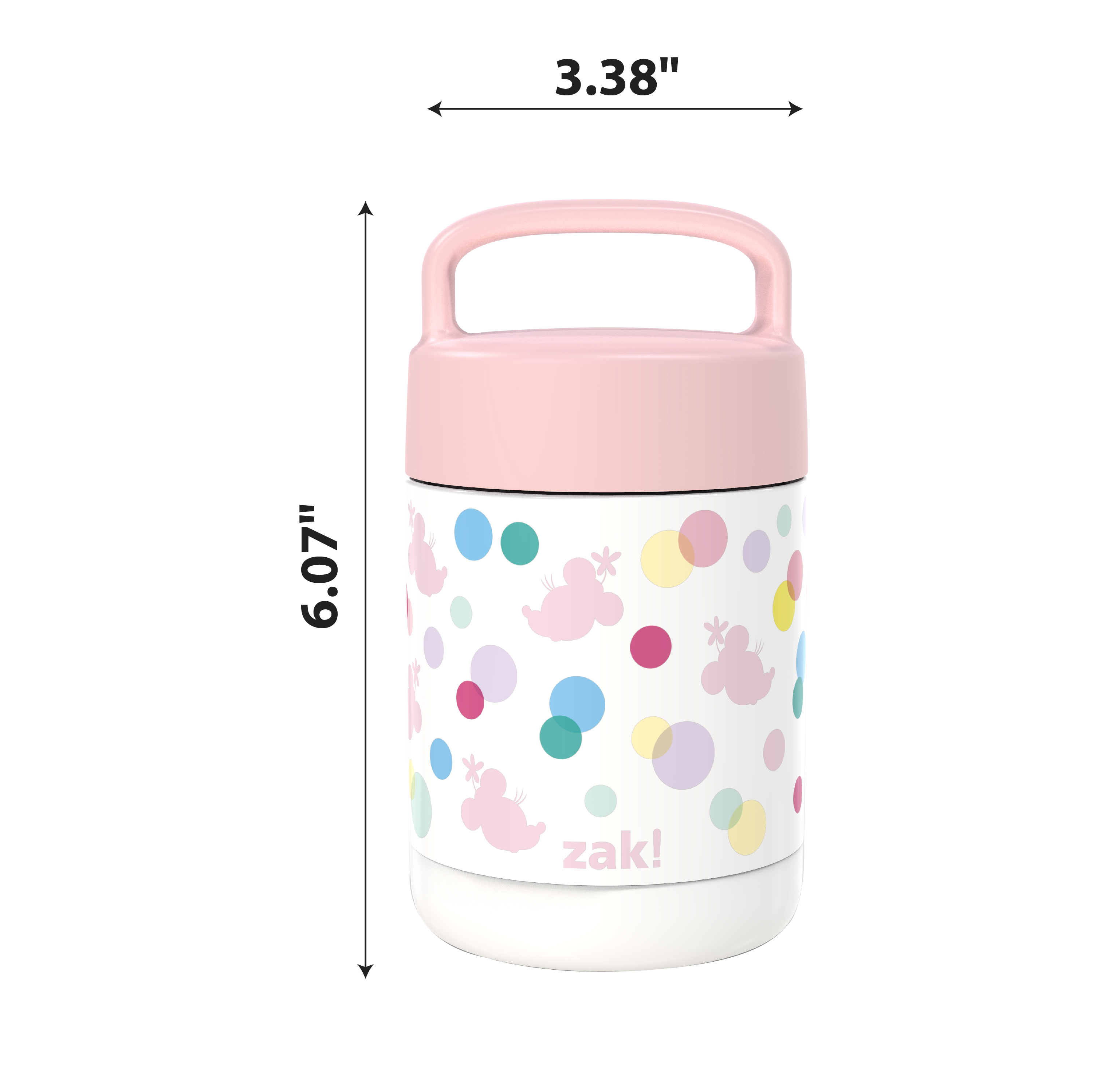 Disney Reusable Vacuum Insulated Stainless Steel Food Container, Minnie Mouse slideshow image 6