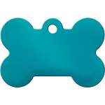 Turquoise High Gloss Large Bone Quick-Tag