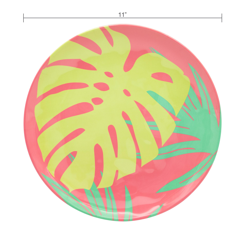 Summer Prints Dinnerware Set, Flamingo, 12-piece set slideshow image 5