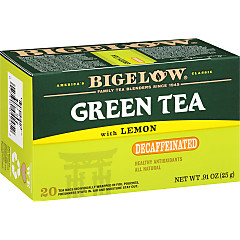 Green Tea with Lemon Decaf - Case of 6 boxes- total of 120 teabags