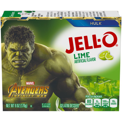 Jell-O Lime Gelatin Mix 6 oz Box