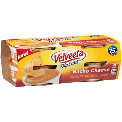 Velveeta Dip Cups Nacho Cheese 4 - 2.5 oz Cups