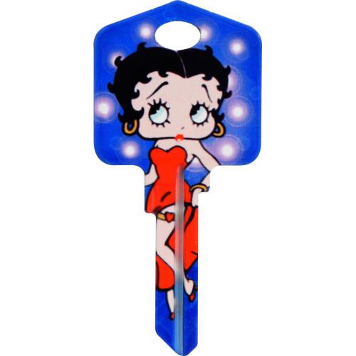 Betty Boop Flash Bulb Key Blank Kwikset 66/97 KW1/10