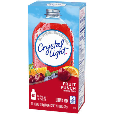 Crystal Light On-The-Go Fruit Punch Drink Mix, 6 - 10 Packet Boxes