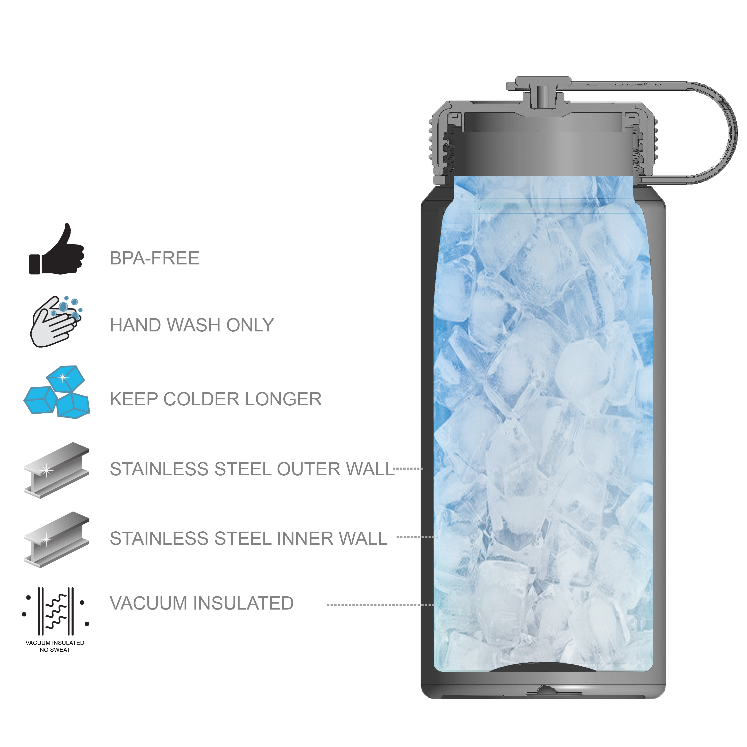 Xbox 24 ounce Stainless Steel Insulated Water Bottle, For the Win slideshow image 6