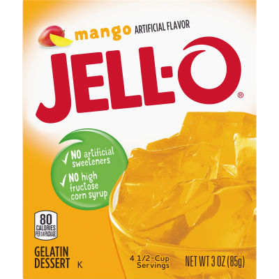 Jell-O® Mango Gelatin Mix, 3 oz Box