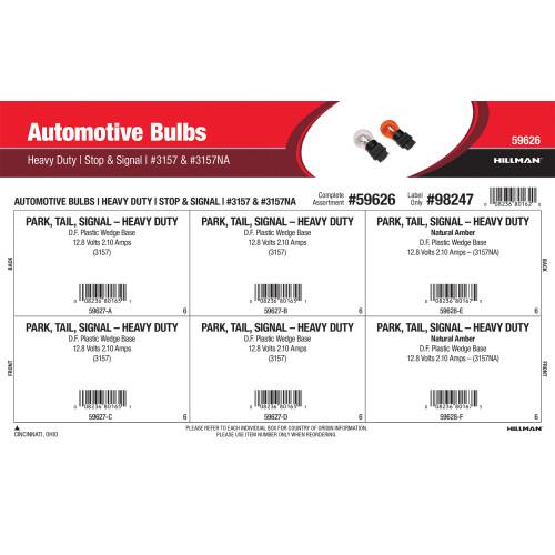 Heavy Duty Stop & Signal Automotive Bulbs Assortment (#3157 & #3157NA)