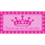 "Princess on Property Sign, 5"" x 10"""
