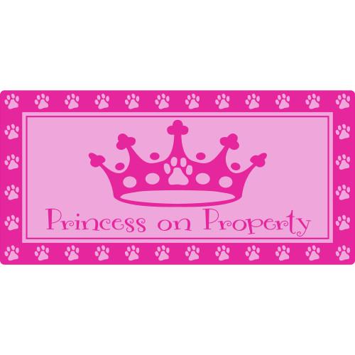 Princess on Property Sign (5