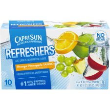 Capri Sun Fruit Refreshers Orange Pineapple Tango Juice Drink 10 - 6 fl oz Pouches