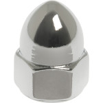 Chrome High Crown Acorn Nuts