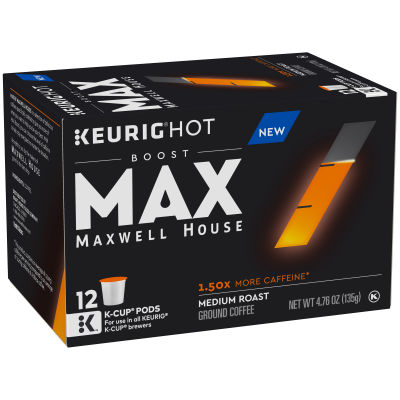 Maxwell House Coffee Boost 1.50X Caffeine Coffee K-Cup Pods 4.76 oz Box