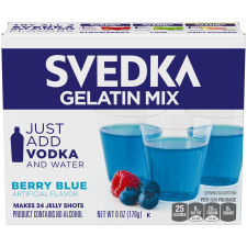 Svedka Berry Blue Gelatin Mix, 6 oz Box