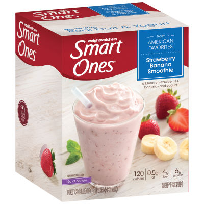 Smart Ones Tasty American Favorites Strawberry Banana Smoothie 8 fl oz Box