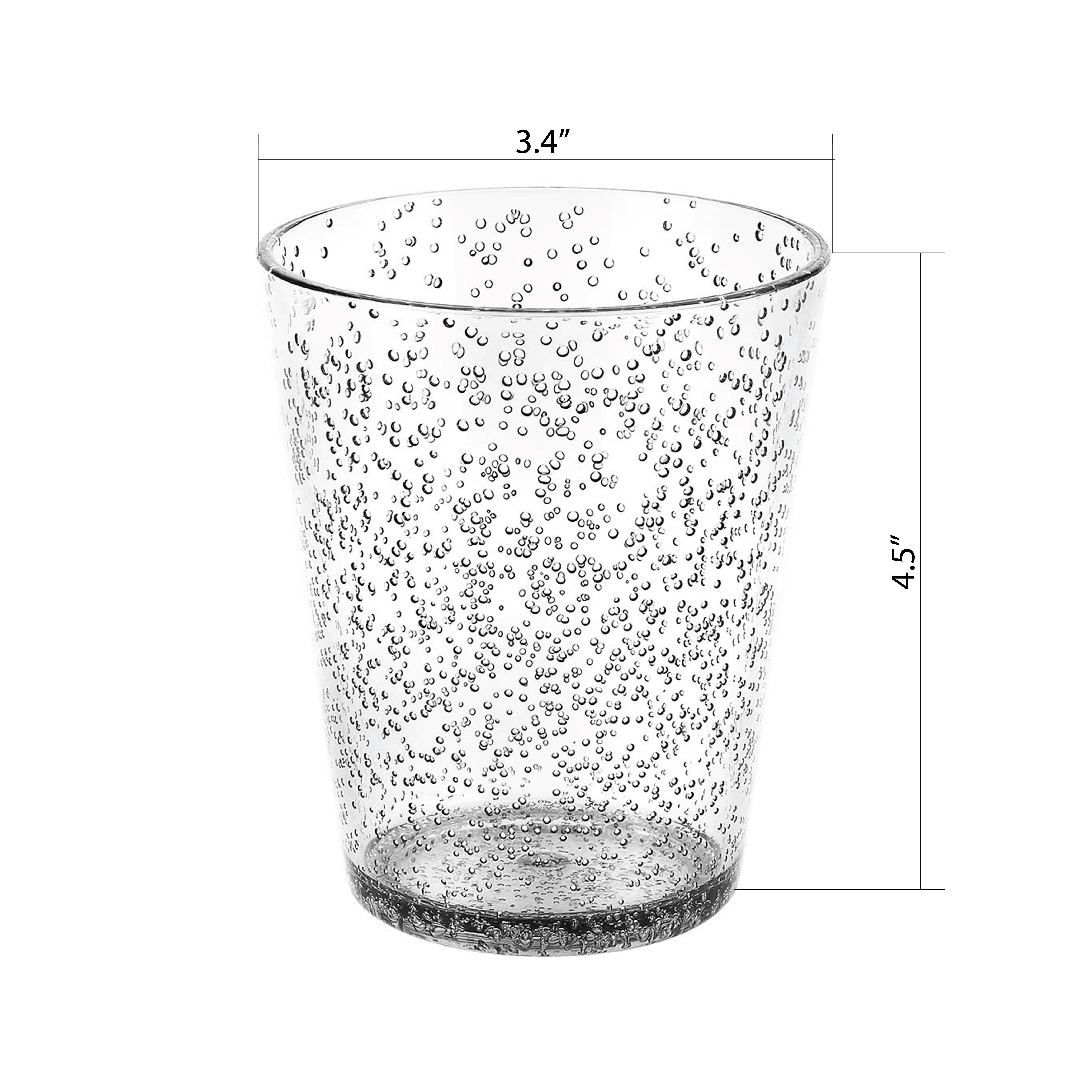 Spritz 16 ounce Old-Fashion Glass, Black