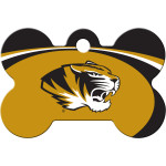 Missouri Tigers Large Bone Quick-Tag