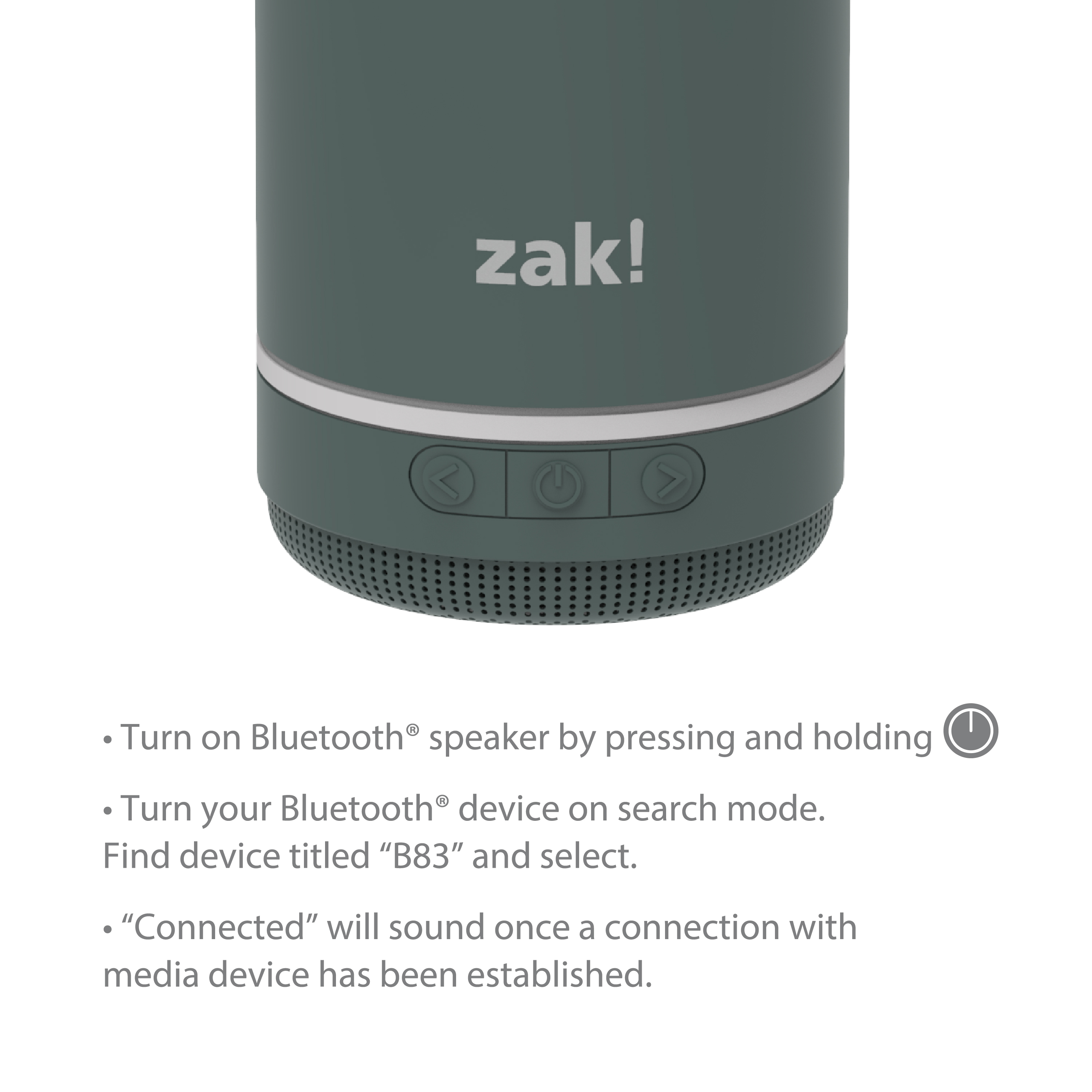 Zak Play 17.5 ounce Stainless Steel Tumbler with Bluetooth Speaker, Gray slideshow image 9